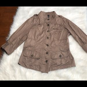 Maurices Military Jacket Brown